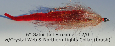 Gator Tail Streamer and Crystal Web Dubbing Brush